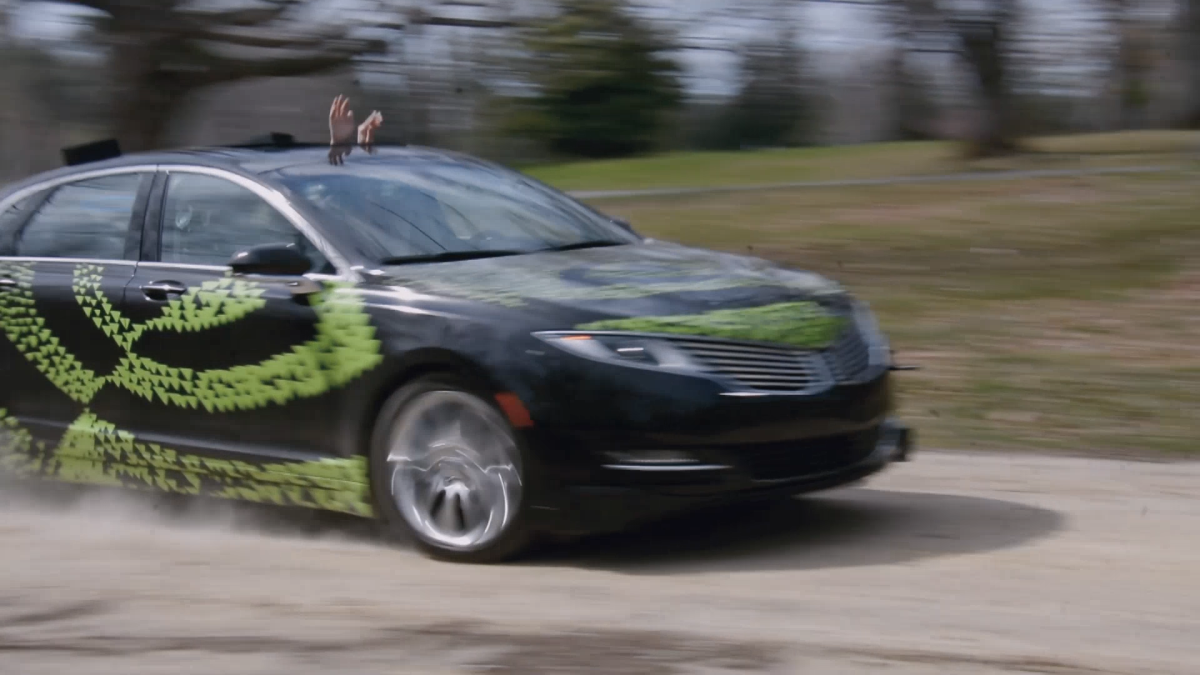 Figure 1: NVIDIA's Lincoln MKV self-driving car.