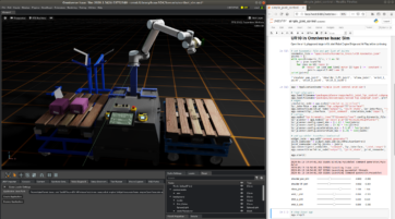Controlling a virtual robot in IsaacSim