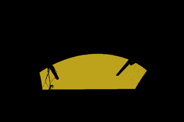 Image showing the points cloud that is the output of CUDA-Segmentation with a plane, ground.