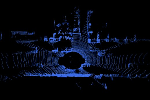 Image showing the points cloud from a lidar that will be filtered.