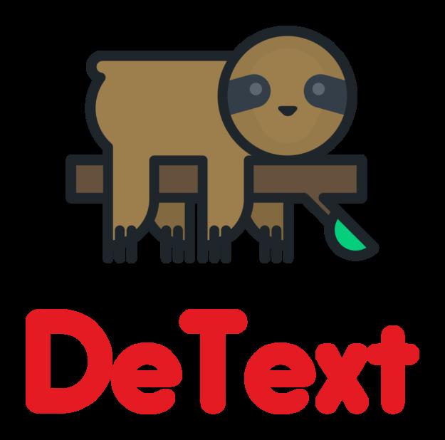 DeText logo