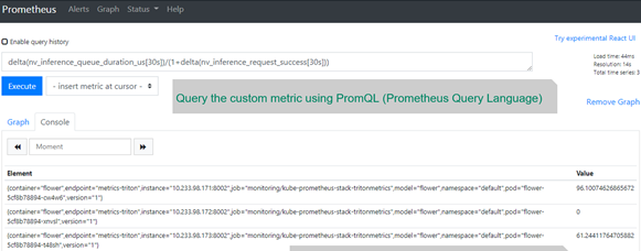 Prometheus can calculate the three values of the customer metric from three Pods.]
