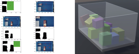 Simulation models can test and optimize AI models for multi-layer bin packing.