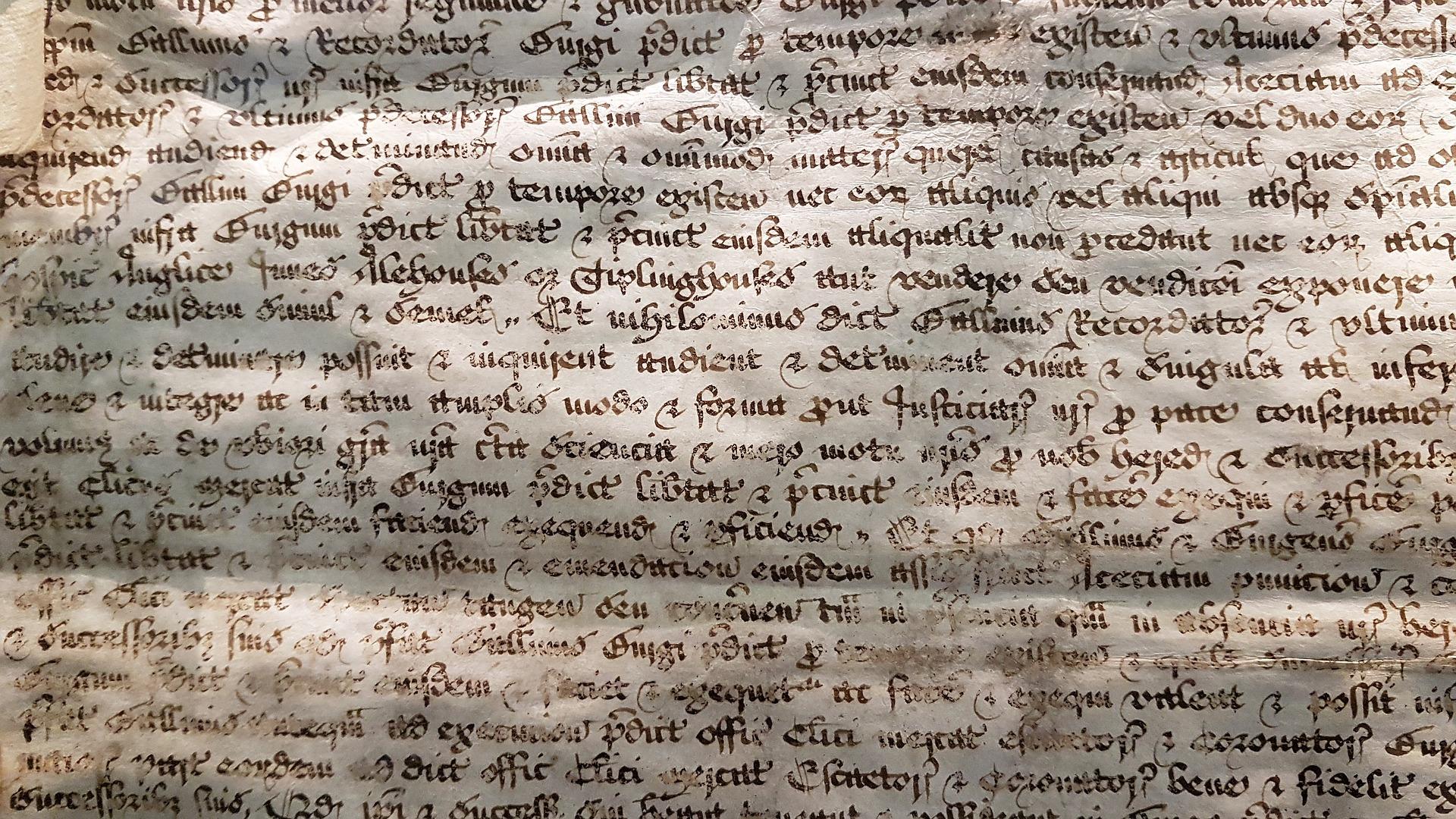 An ancient manuscript.
