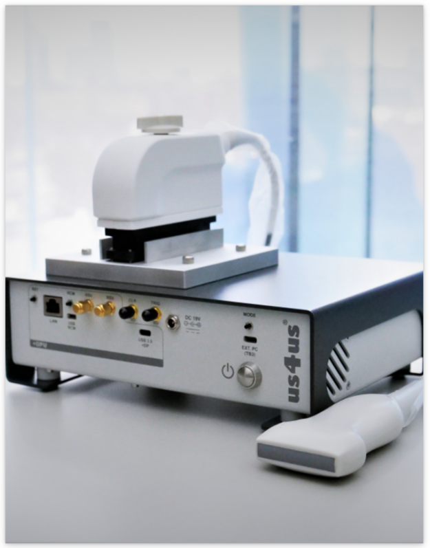A front-facing photo of the Ultrasound Research System