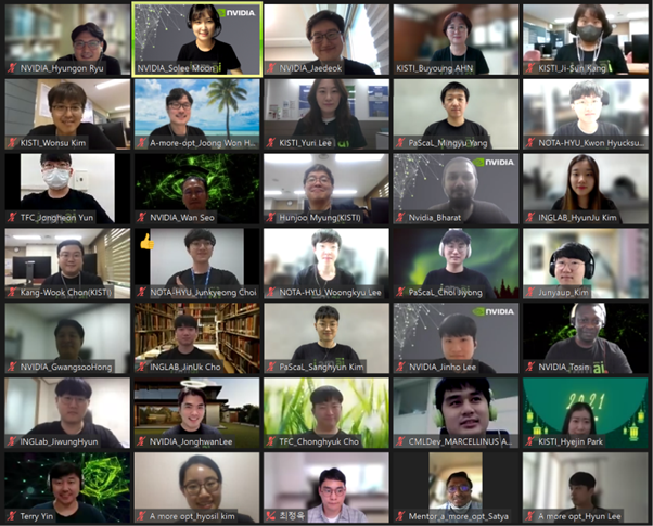 Image of participants in a virtual meeting.