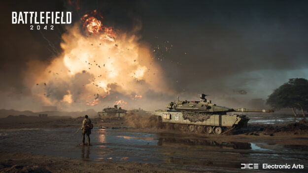 Gameplay screenshot with tanks from the newly released Battlefield 2024.