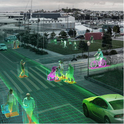 Image shows how computer vision could be used to identify people in cities.