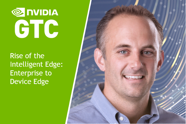 """Promotional image of Justin Boitano, speaker of the """"Rise of the Intelligent Edge: Enterprise to Device Edge"""" GTC session."""