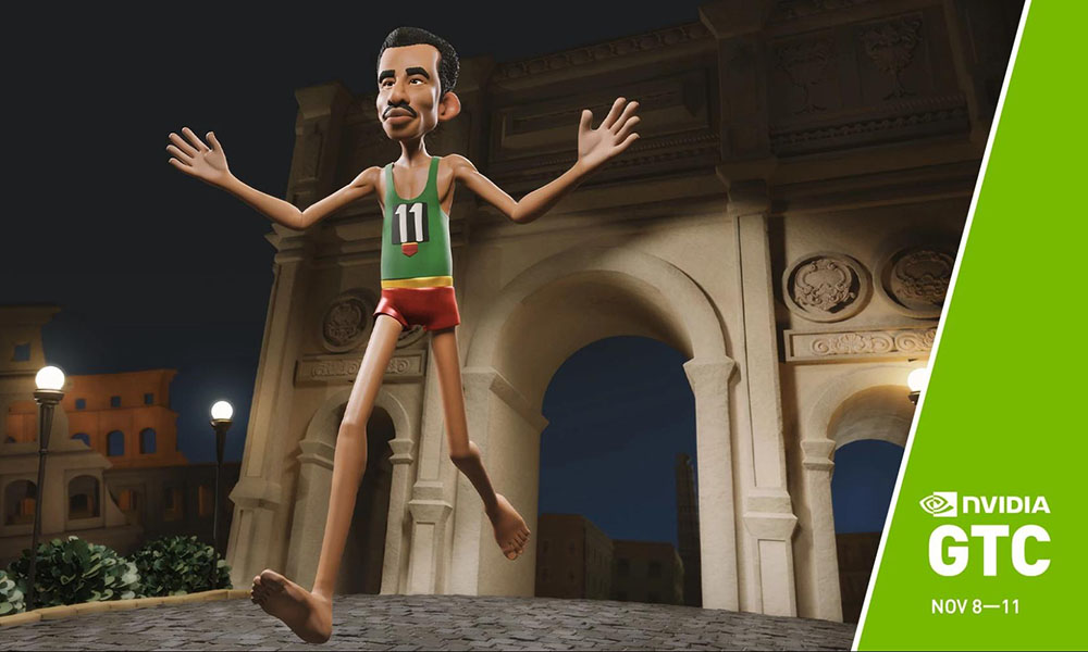 Screenshot of a 3D character in an animated movie.